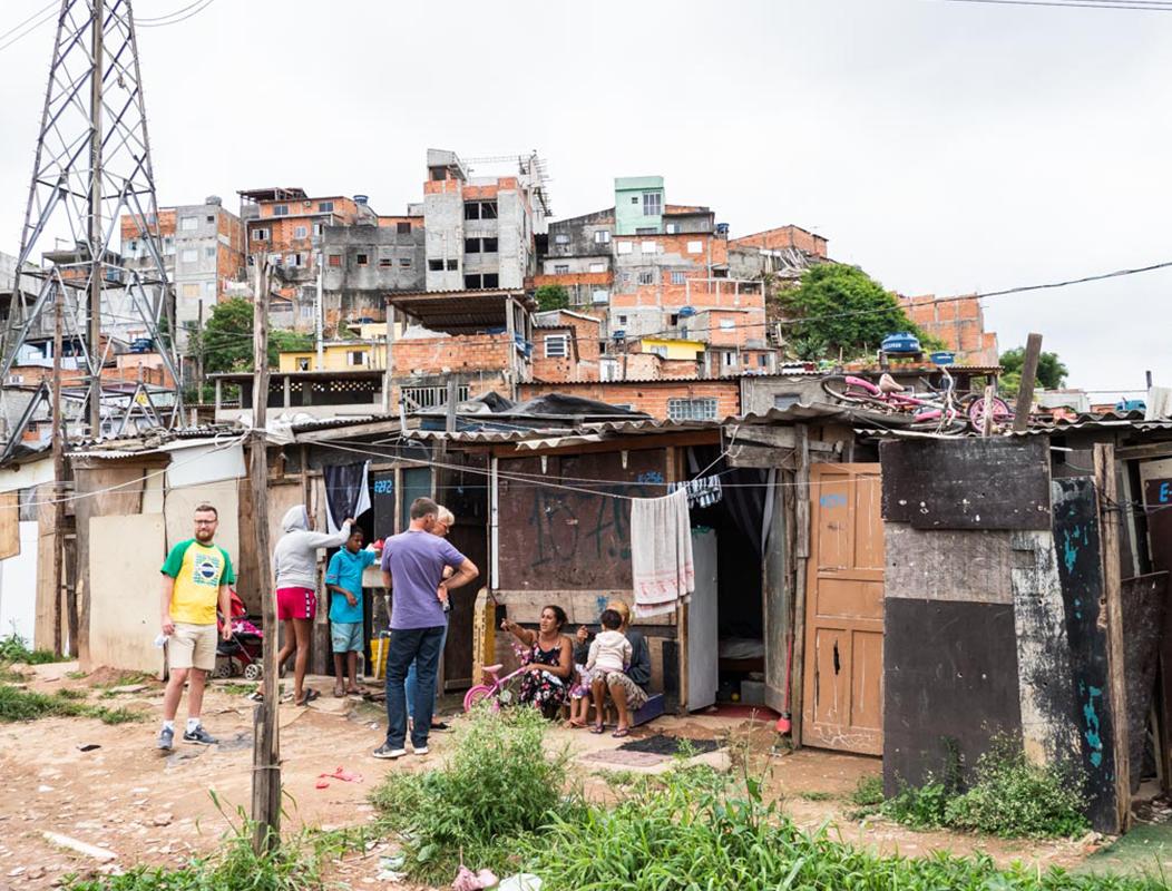 Woning in Brazilië in de favela