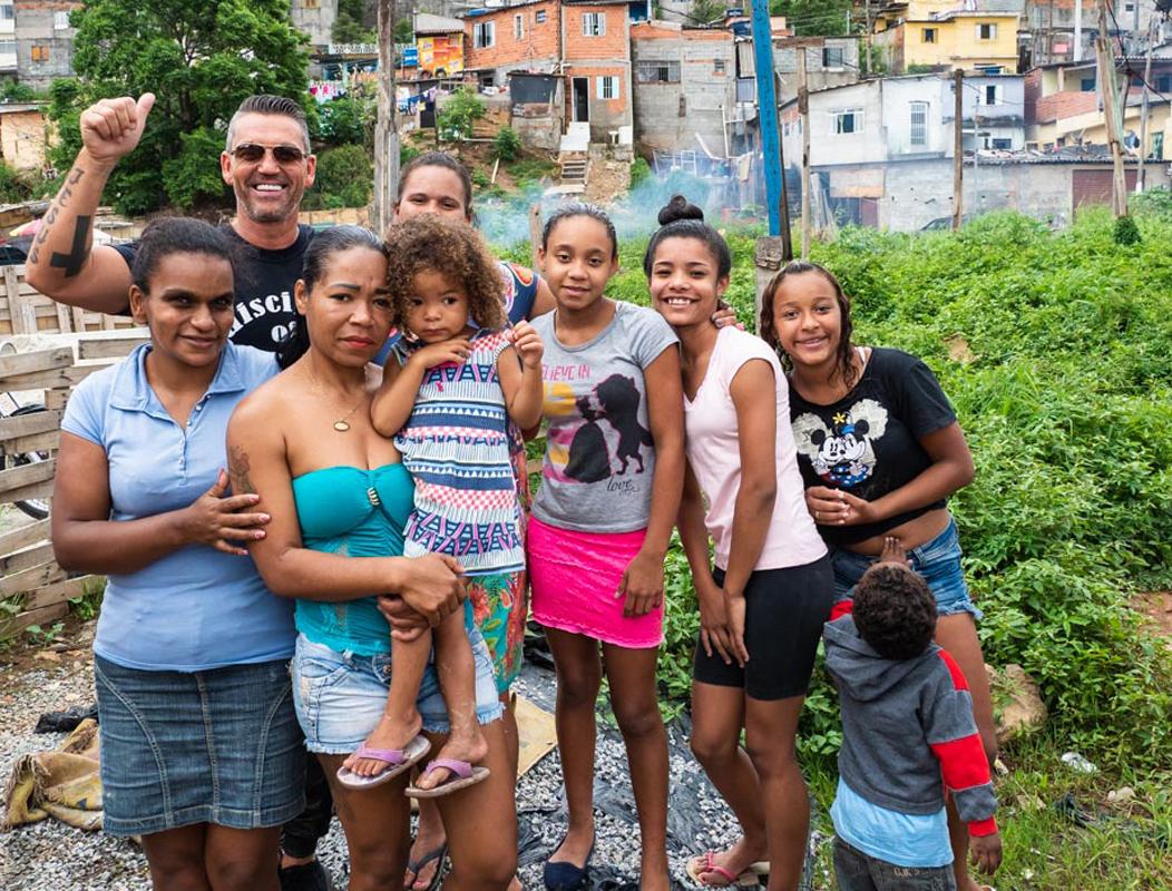 Foto van een familie in Brazilië
